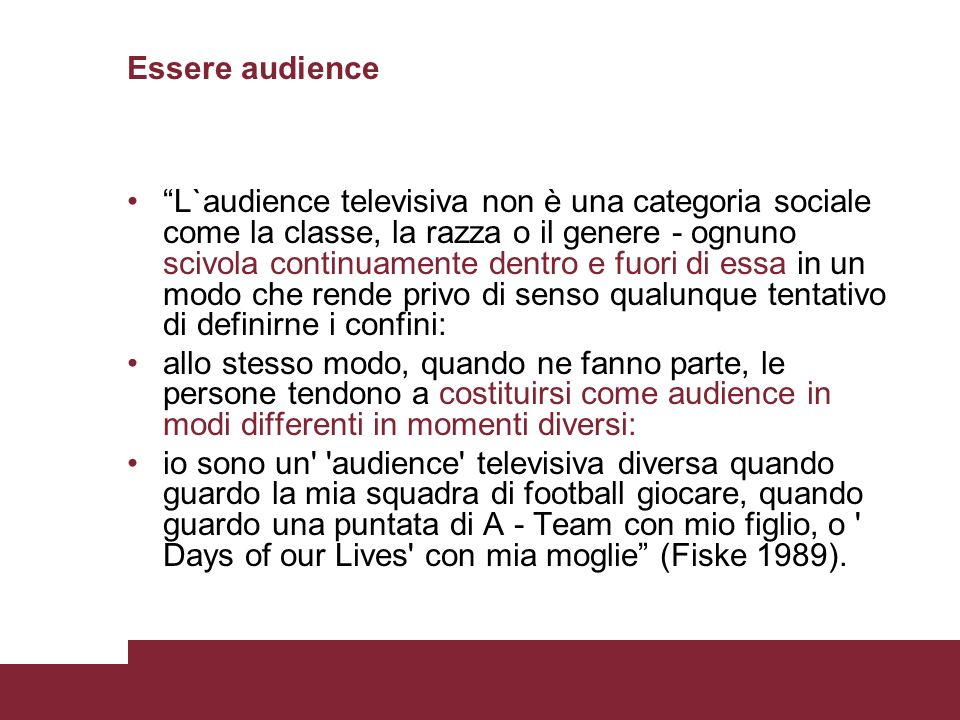 Essere audience