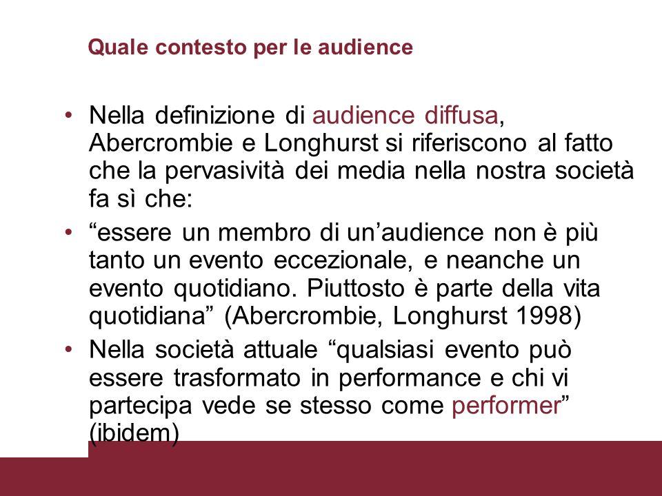 Quale contesto per le audience