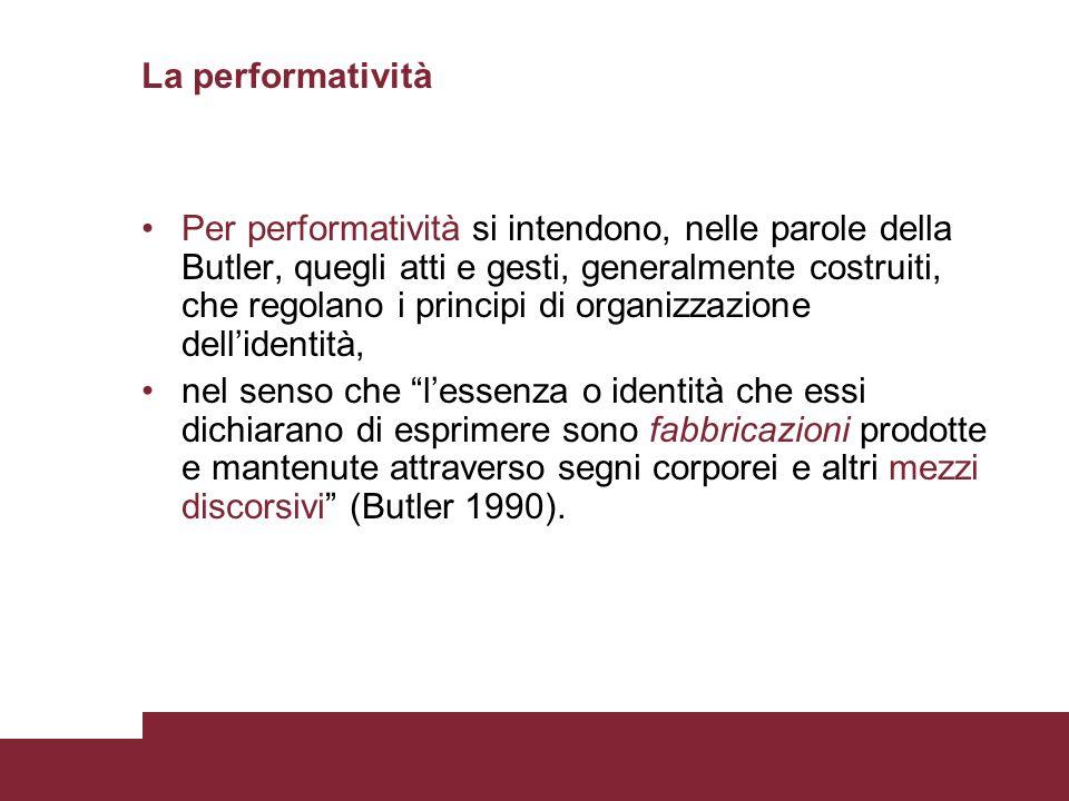 La performatività