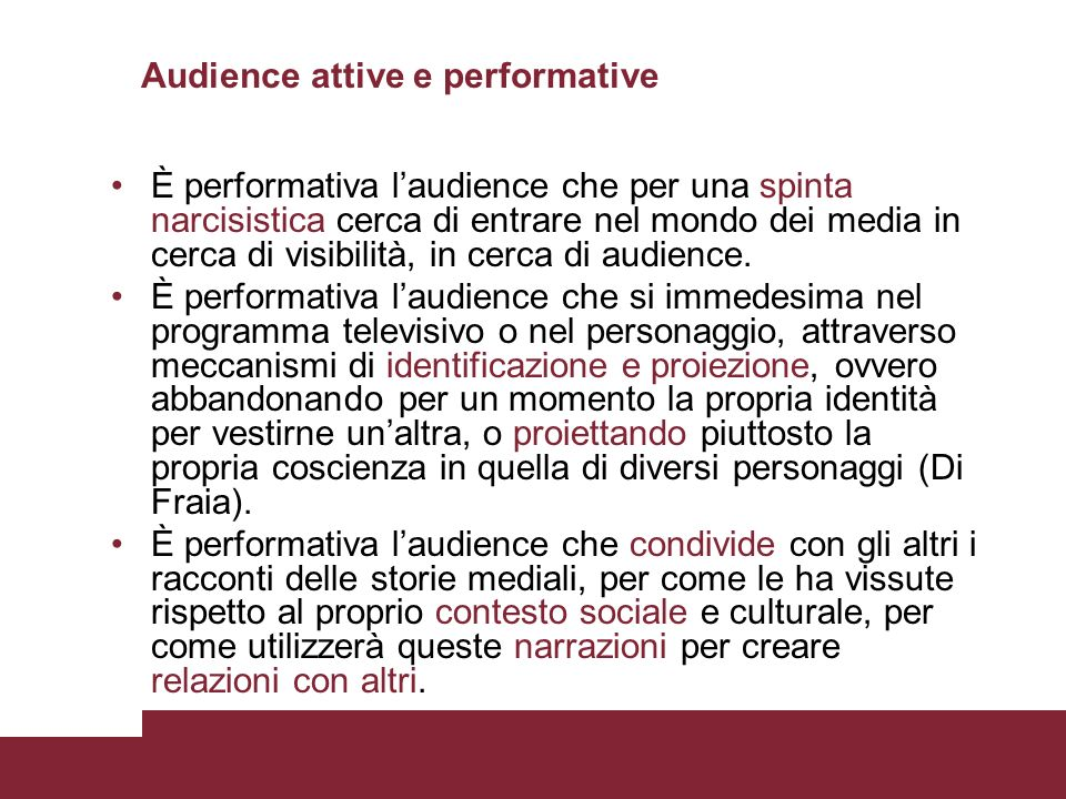 Audience attive e performative