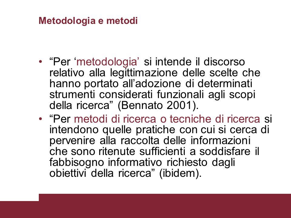 Metodologia e metodi