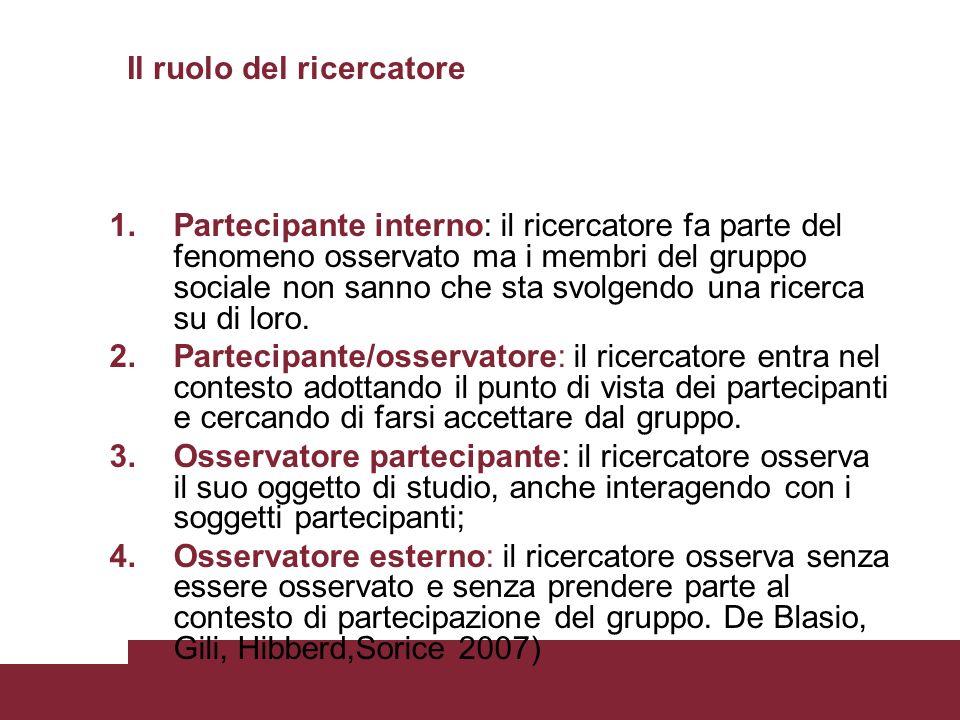 Il ruolo del ricercatore