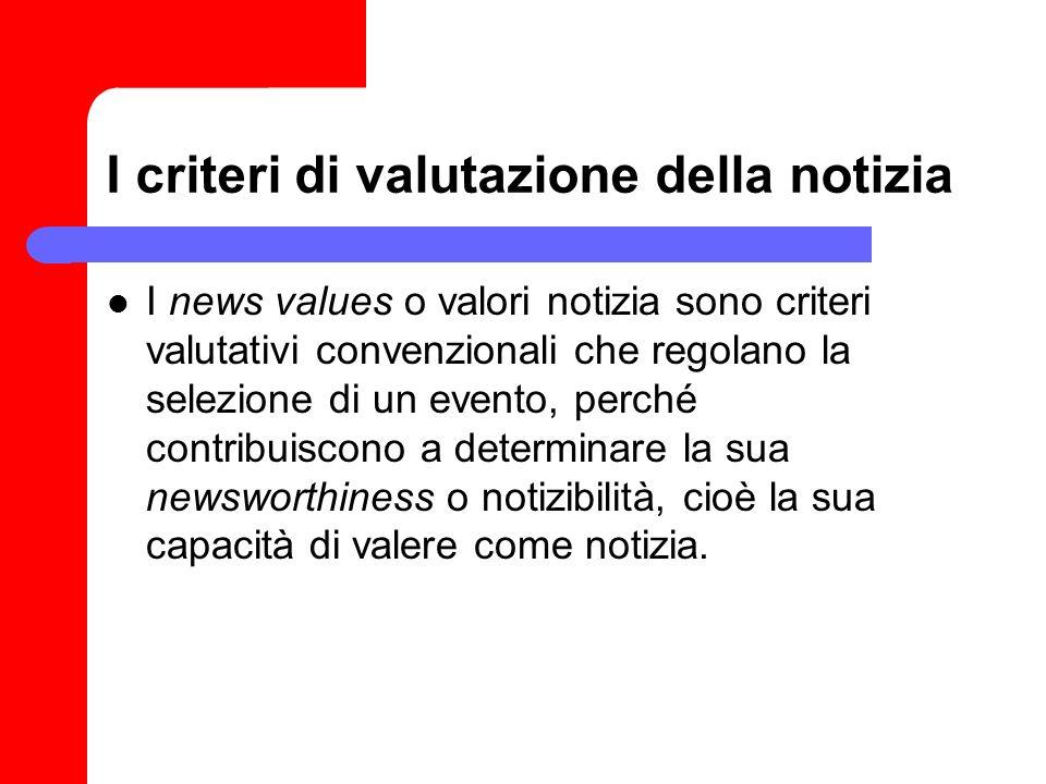 I criteri di valutazione della notizia
