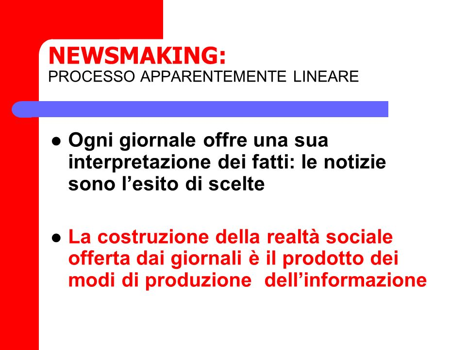 NEWSMAKING: PROCESSO APPARENTEMENTE LINEARE