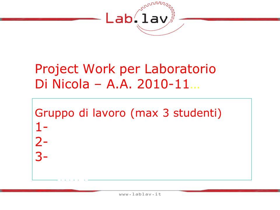 Project Work per Laboratorio Di Nicola – A. A