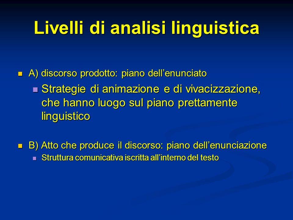 Livelli di analisi linguistica