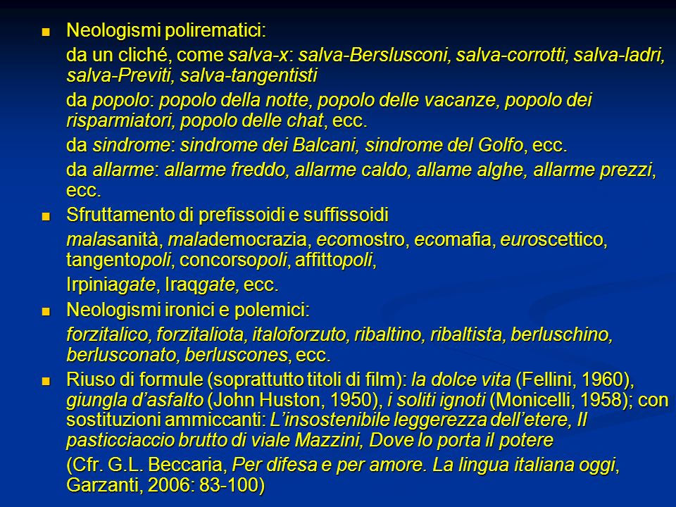 Neologismi polirematici: