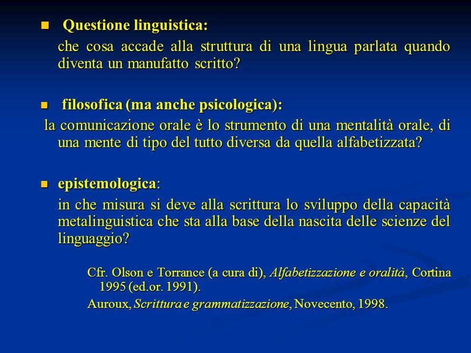 Questione linguistica:
