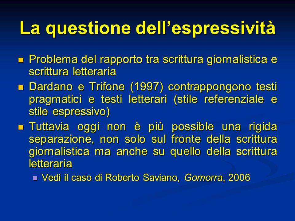 La questione dell'espressività
