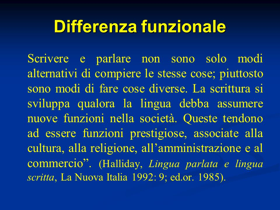 Differenza funzionale