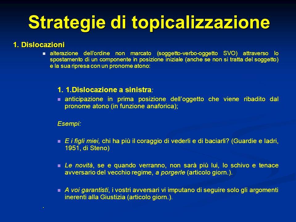 Strategie di topicalizzazione