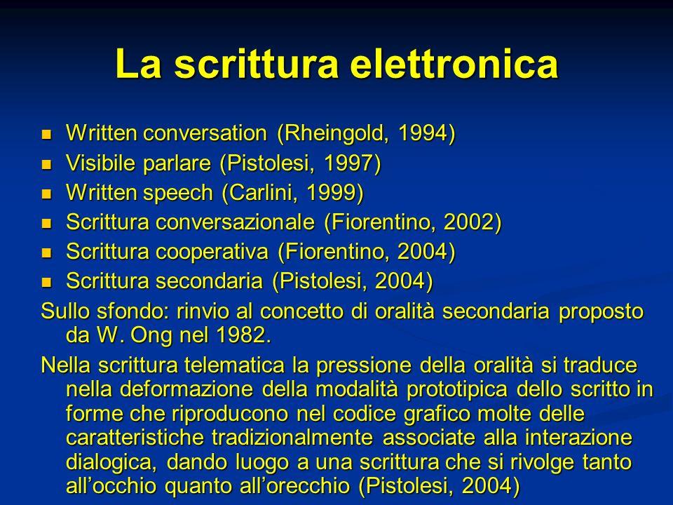 La scrittura elettronica