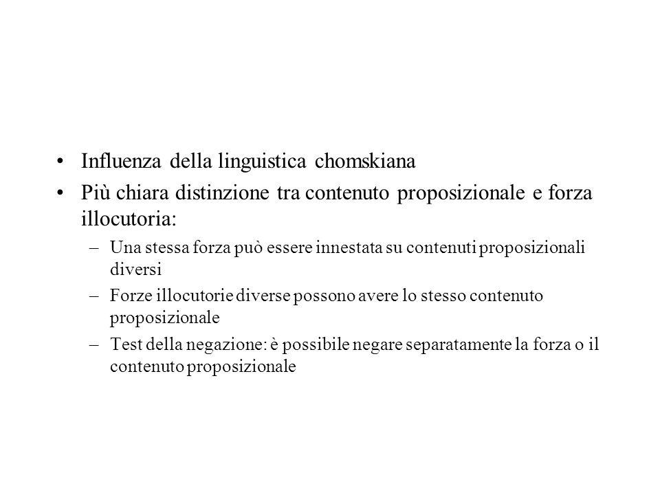 Influenza della linguistica chomskiana