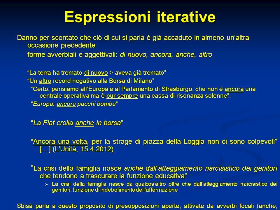 Espressioni iterative