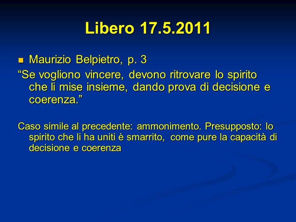 Libero 17.5.2011 Maurizio Belpietro, p. 3