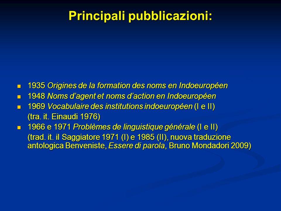 Principali pubblicazioni:
