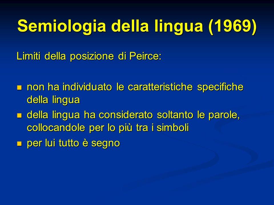 Semiologia della lingua (1969)