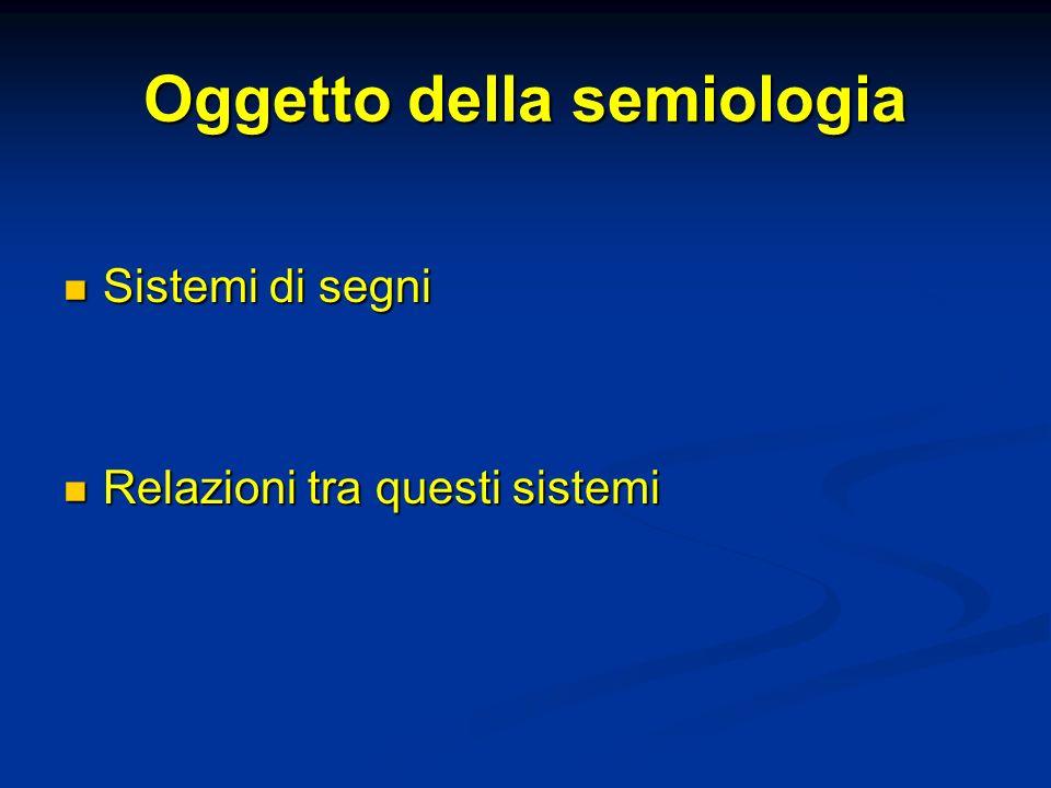 Oggetto della semiologia