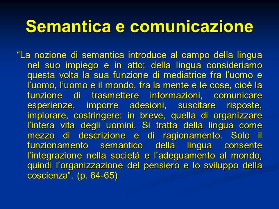 Semantica e comunicazione