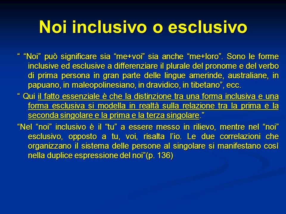 Noi inclusivo o esclusivo
