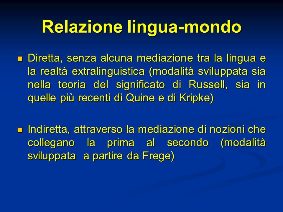 Relazione lingua-mondo