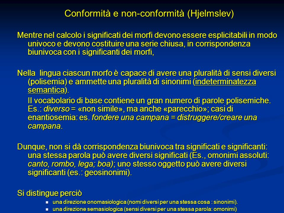 Conformità e non-conformità (Hjelmslev)
