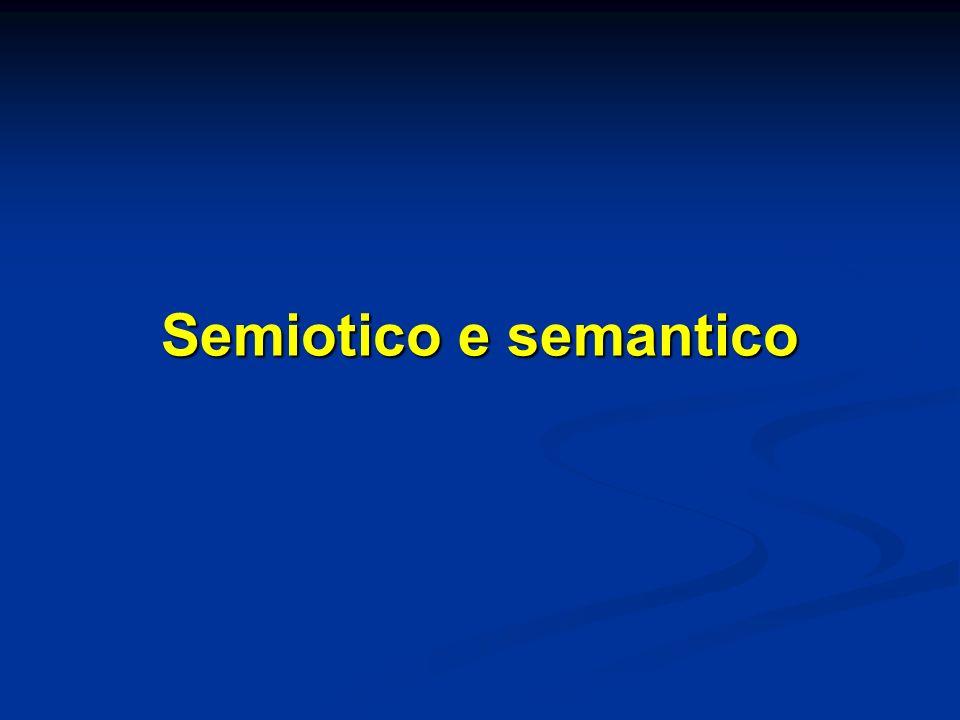 Semiotico e semantico