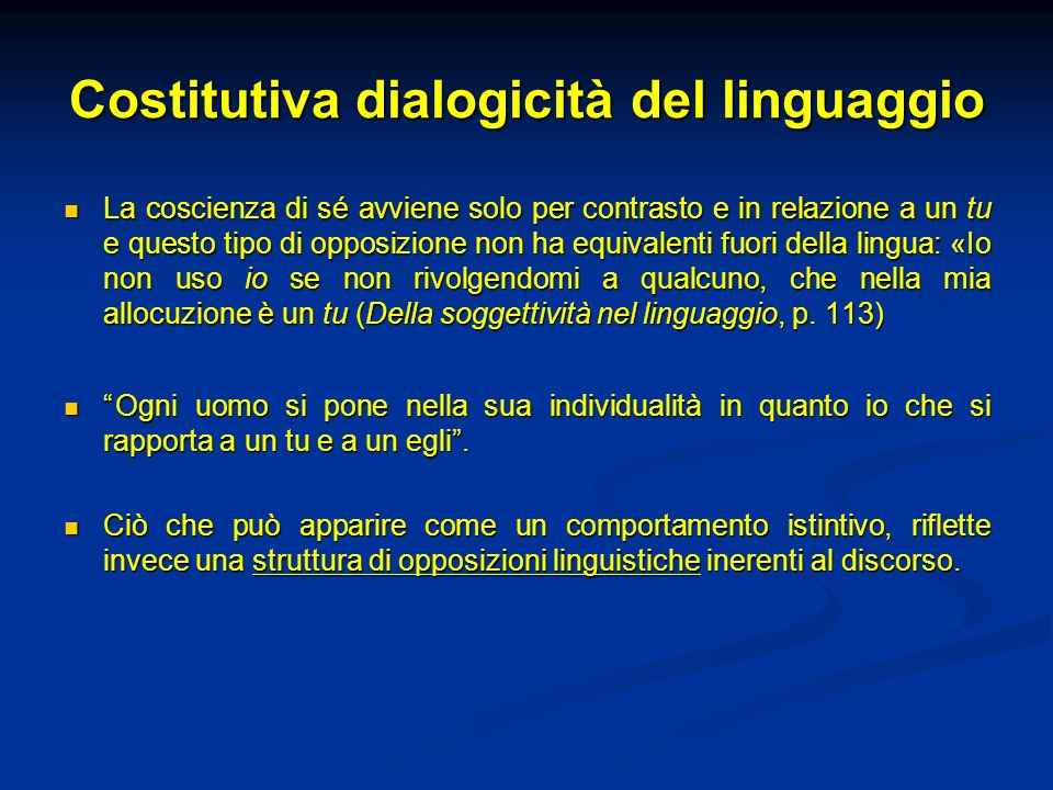 Costitutiva dialogicità del linguaggio