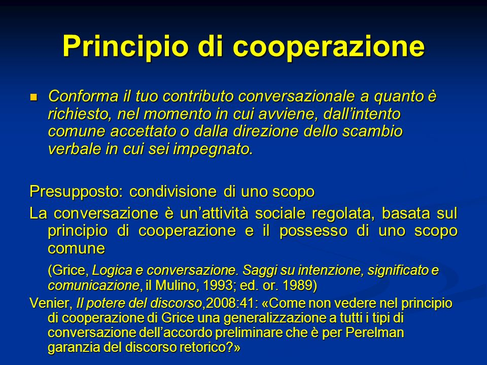 Principio di cooperazione