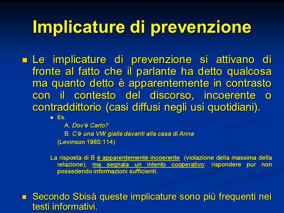 Implicature di prevenzione