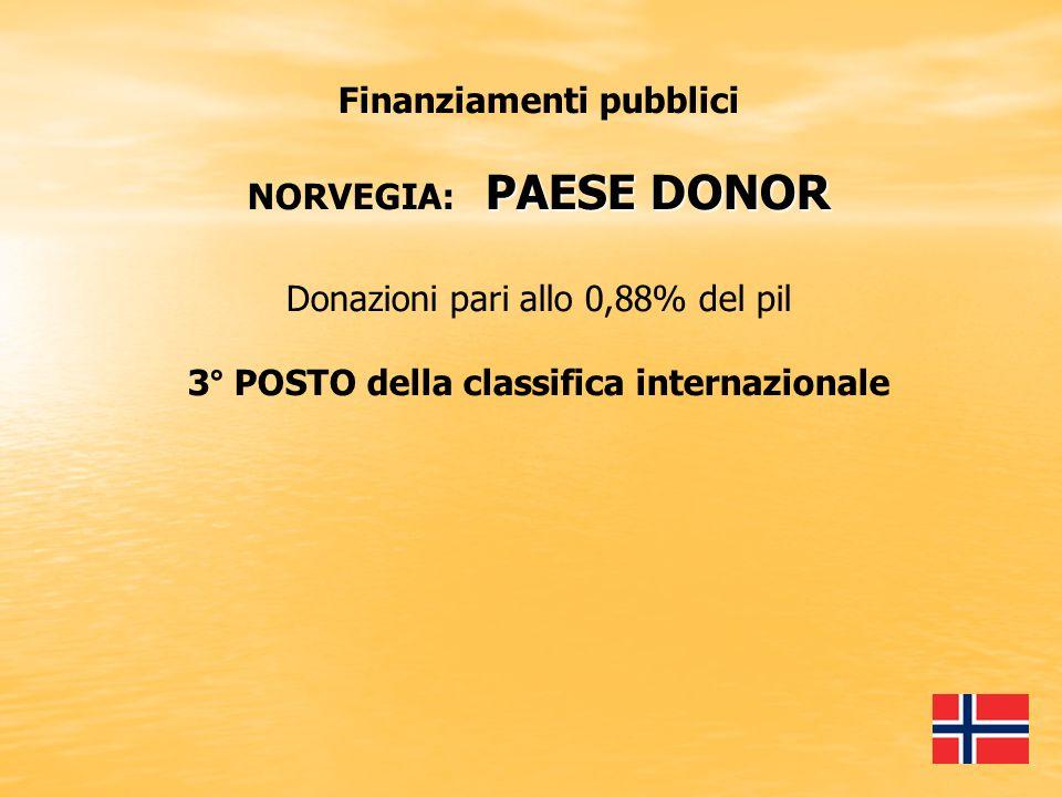Finanziamenti pubblici 3° POSTO della classifica internazionale