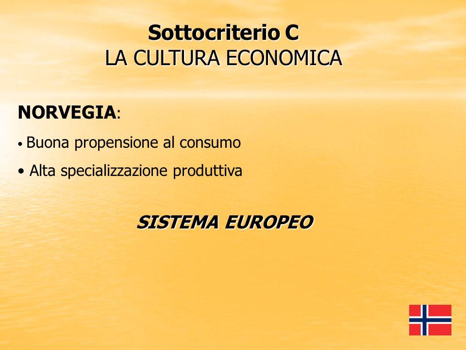 Sottocriterio C LA CULTURA ECONOMICA