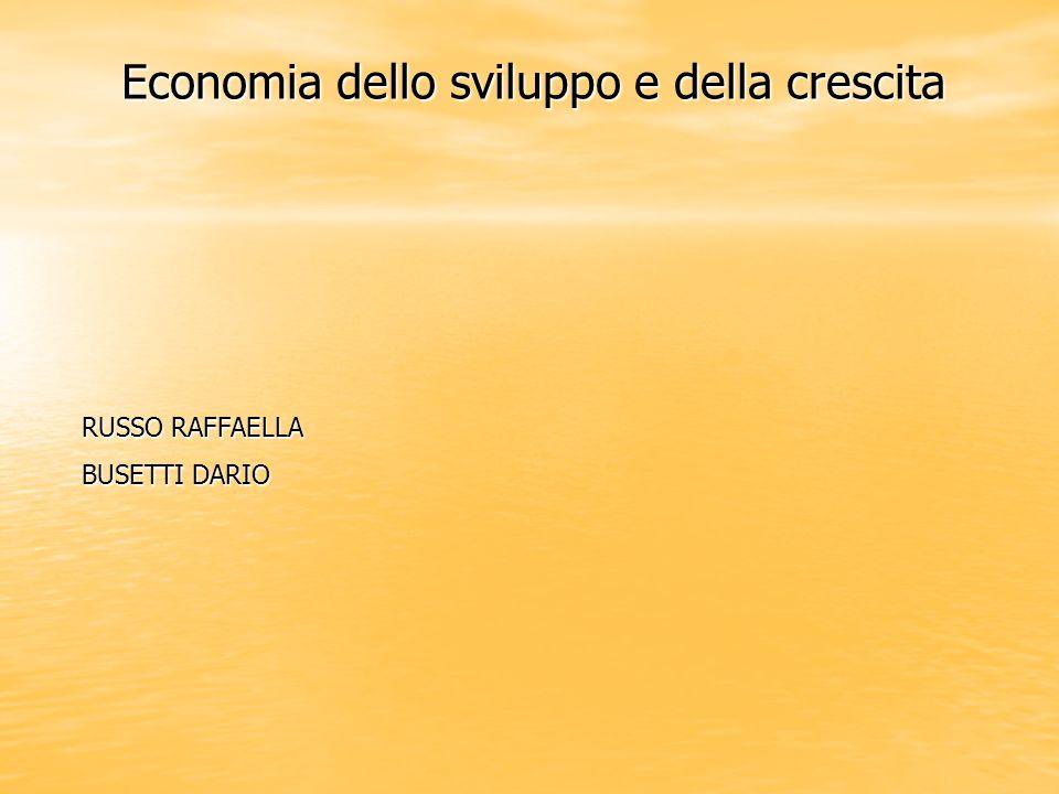 Economia dello sviluppo e della crescita