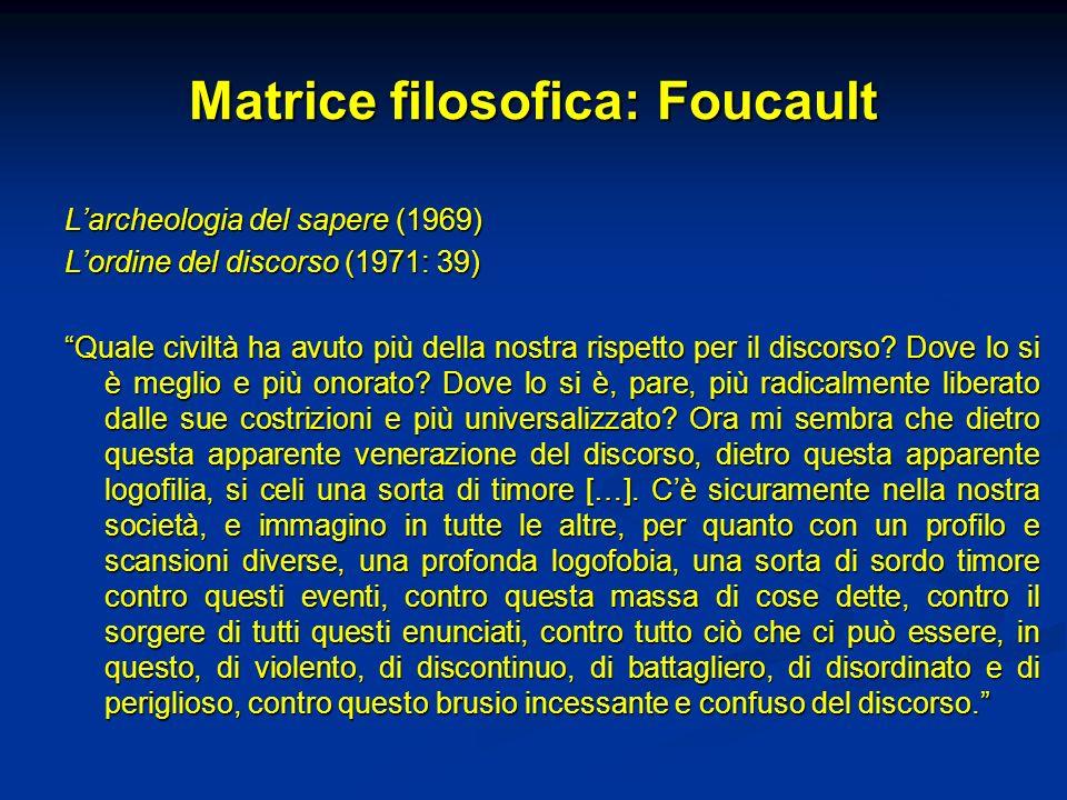 Matrice filosofica: Foucault