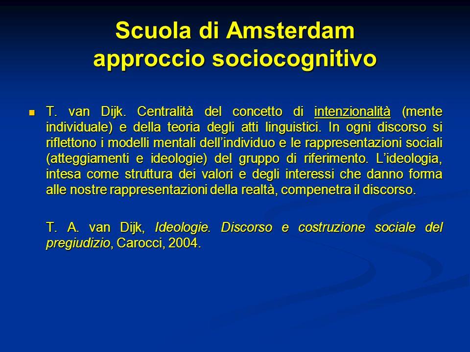 Scuola di Amsterdam approccio sociocognitivo