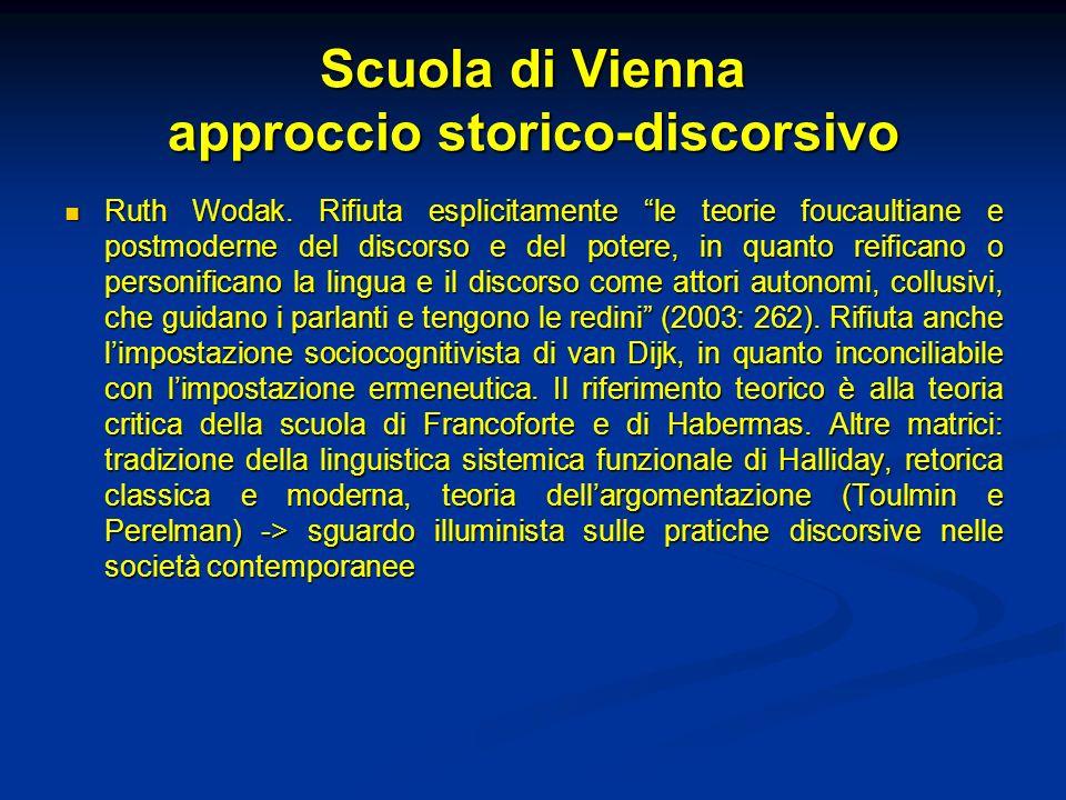 Scuola di Vienna approccio storico-discorsivo