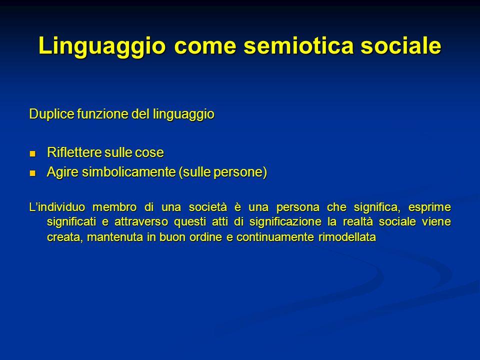 Linguaggio come semiotica sociale