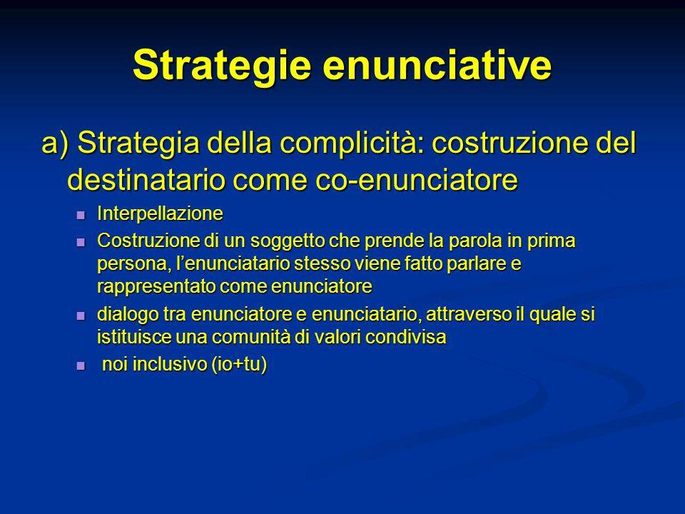 Strategie enunciative
