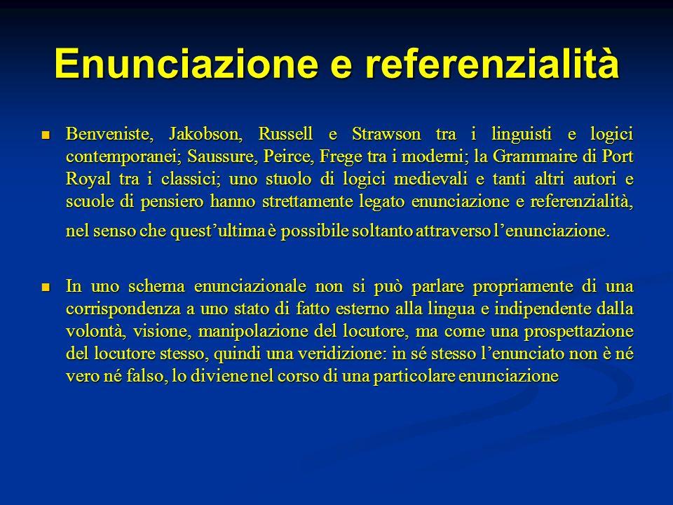 Enunciazione e referenzialità