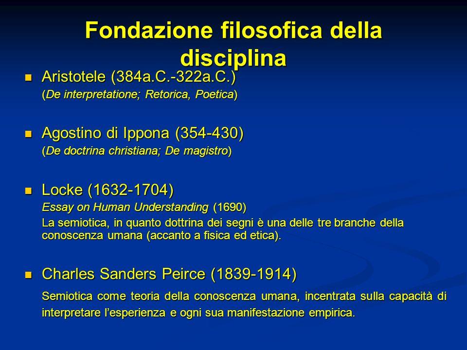 Fondazione filosofica della disciplina