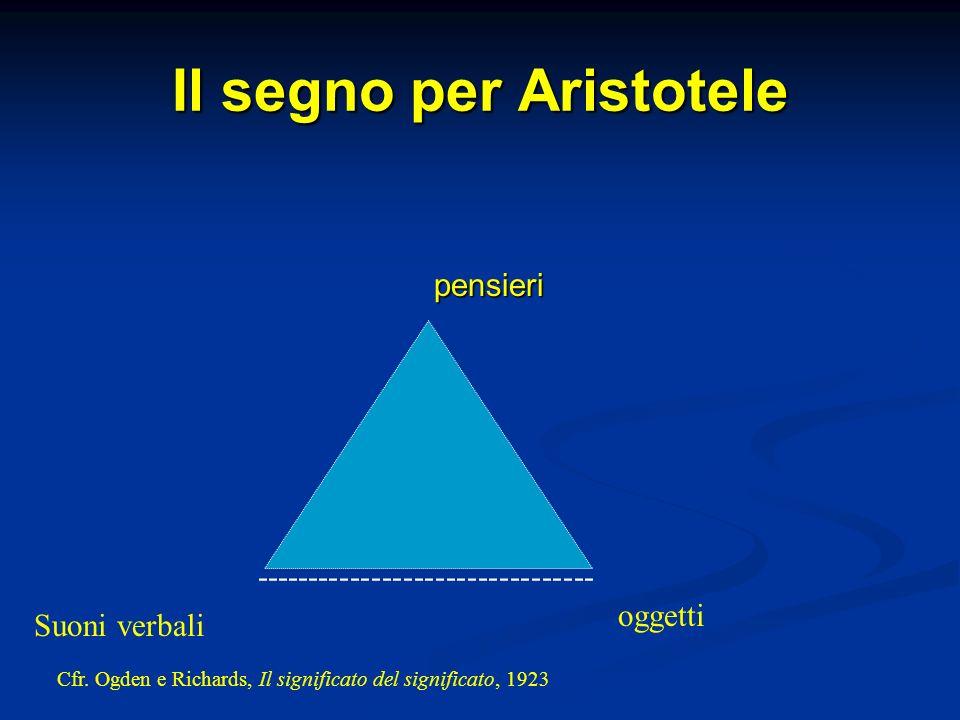 Il segno per Aristotele