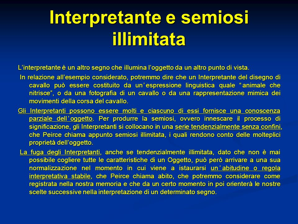 Interpretante e semiosi illimitata