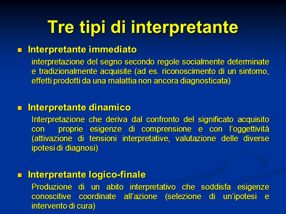 Tre tipi di interpretante
