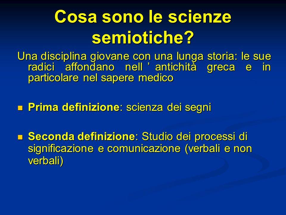 Cosa sono le scienze semiotiche