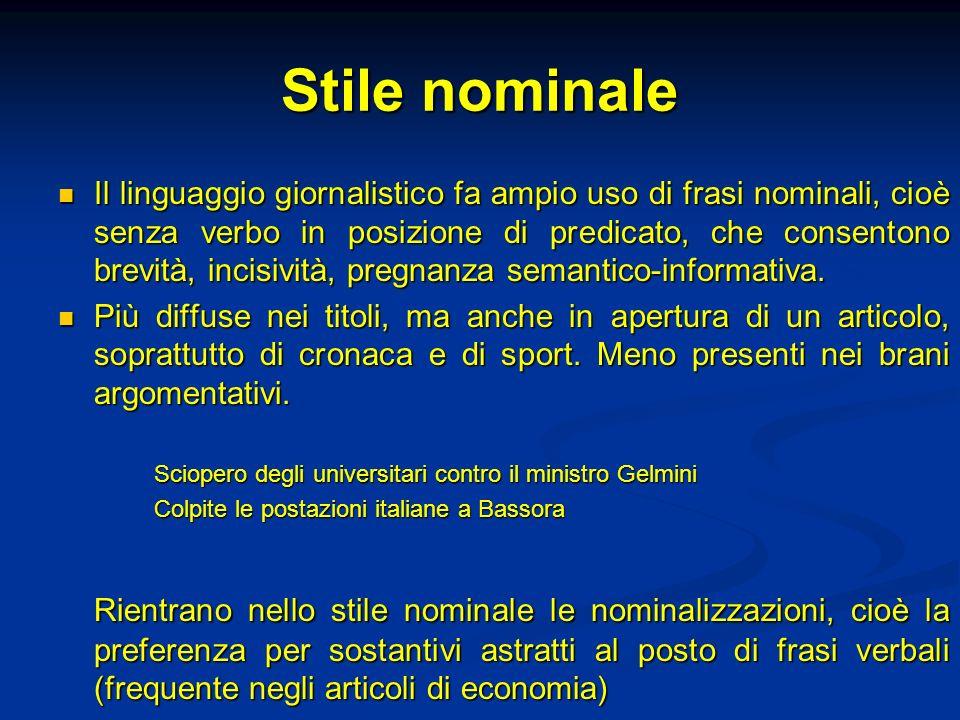 Stile nominale