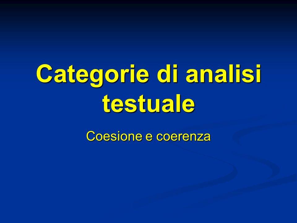 Categorie di analisi testuale