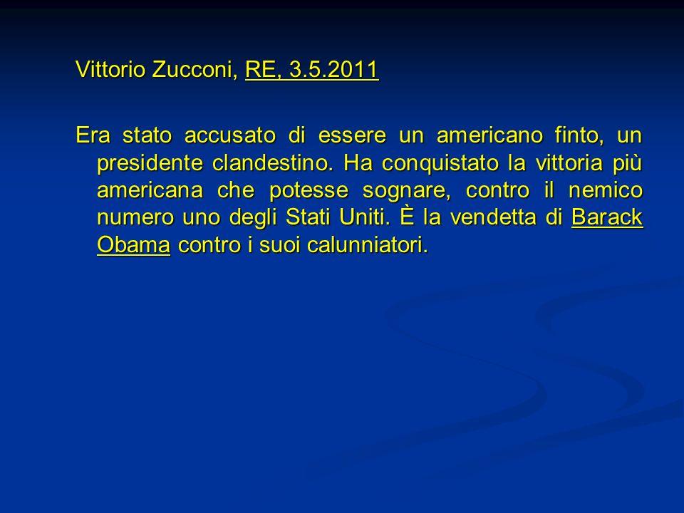 Vittorio Zucconi, RE, 3.5.2011