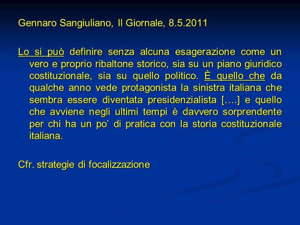 Gennaro Sangiuliano, Il Giornale, 8.5.2011
