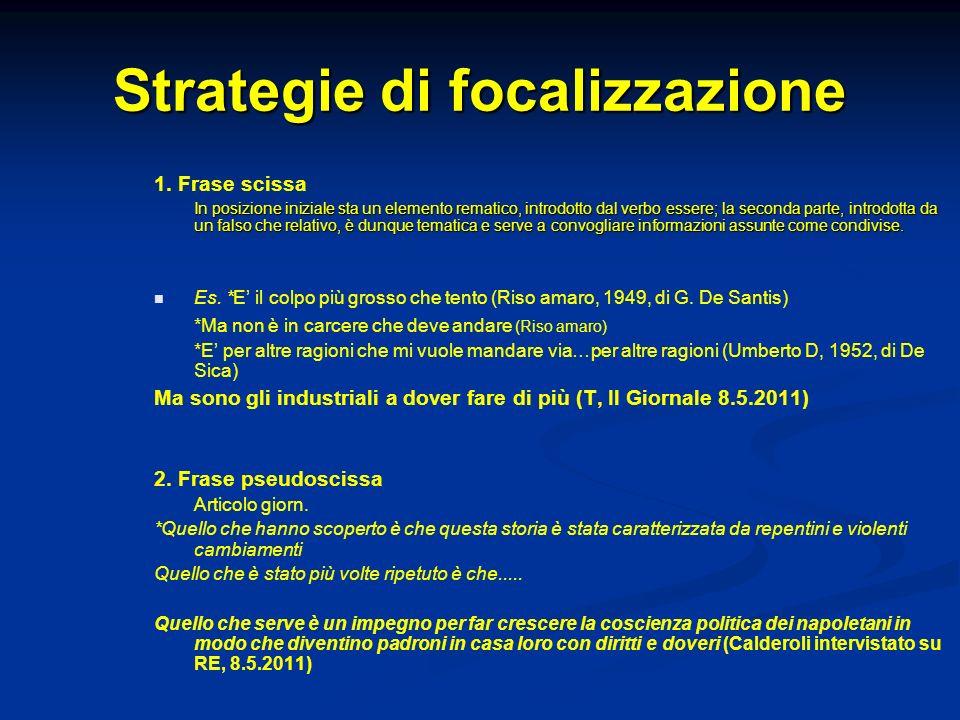 Strategie di focalizzazione