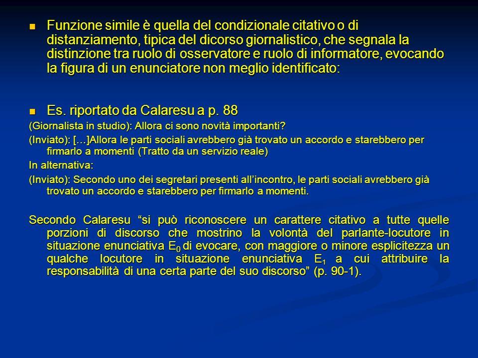 Es. riportato da Calaresu a p. 88